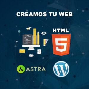 nous créons votre site web avec astra et wordpress
