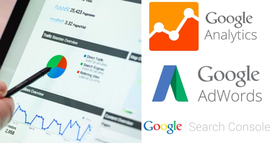 google analytics adwords y search console