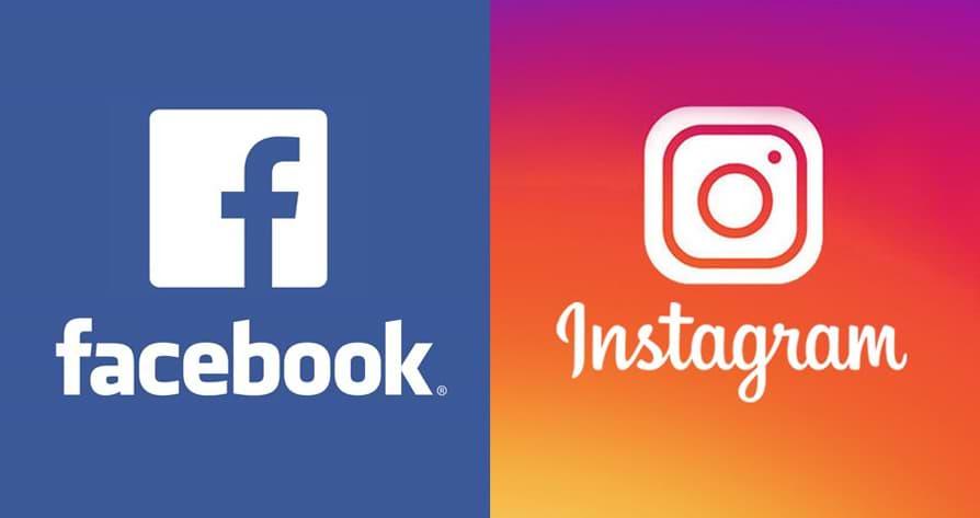 logotipos do facebook e instagram