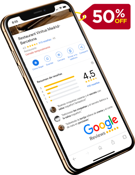 50% discount on our reviews