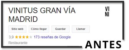 Eksempel på fil, før du køber anmeldelser på google
